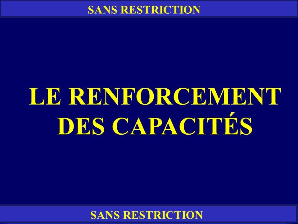 LE RENFORCEMENT DES CAPACITÉS