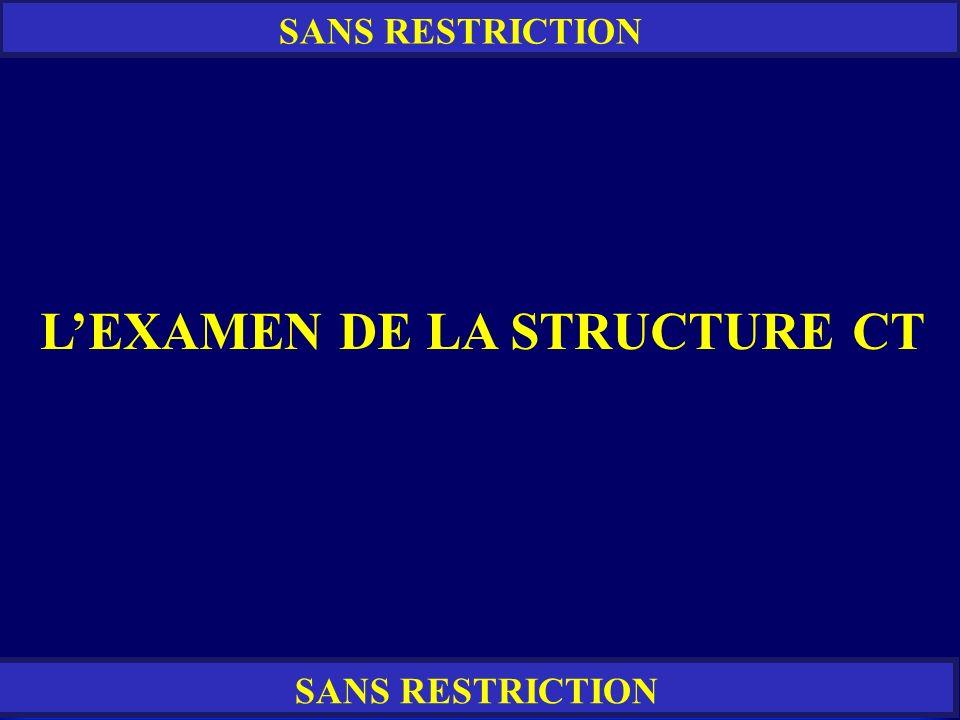 L'EXAMEN DE LA STRUCTURE CT