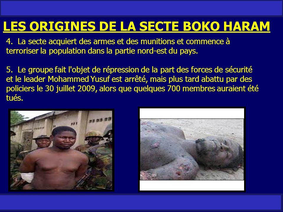 LES ORIGINES DE LA SECTE BOKO HARAM