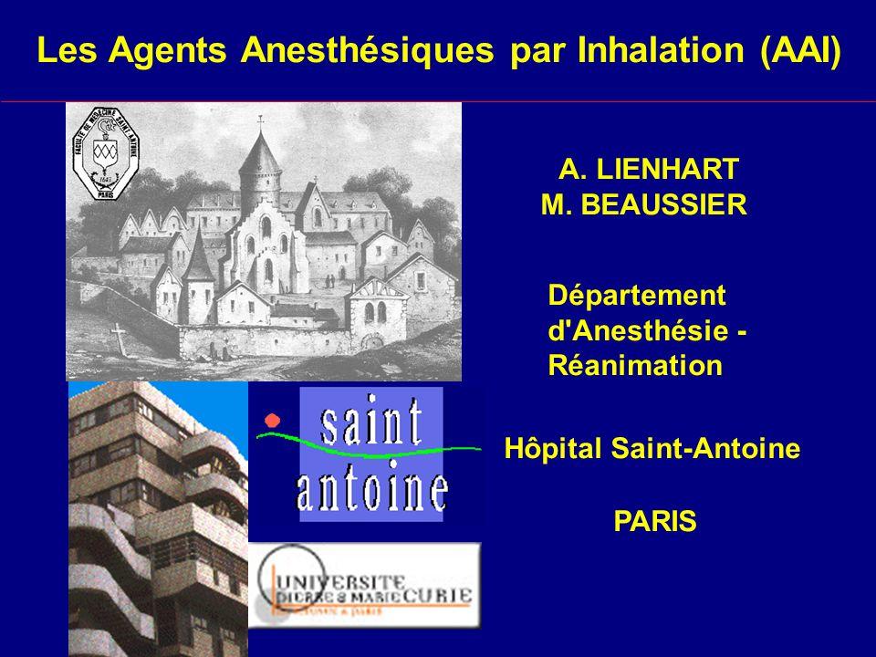 Les Agents Anesthésiques par Inhalation (AAI)