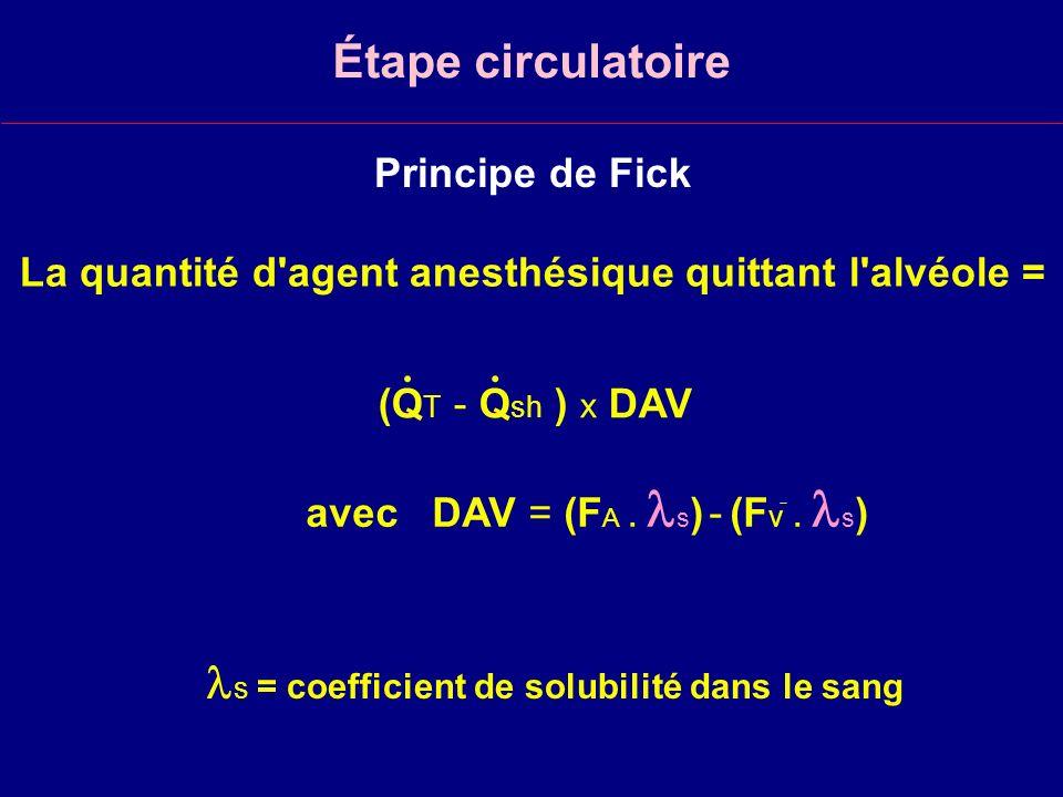 s = coefficient de solubilité dans le sang