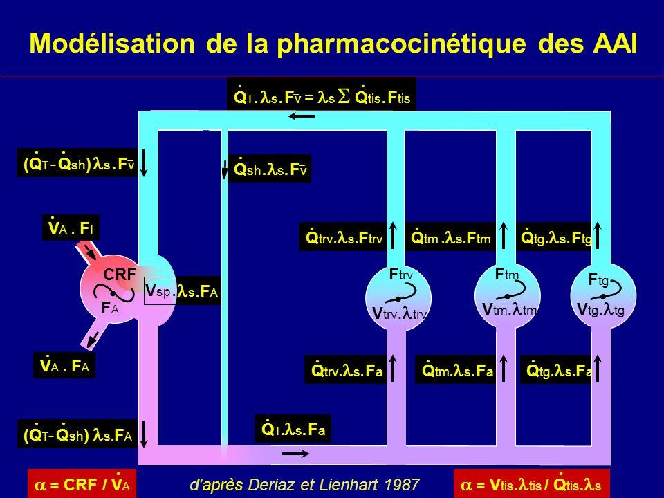 Modélisation de la pharmacocinétique des AAI
