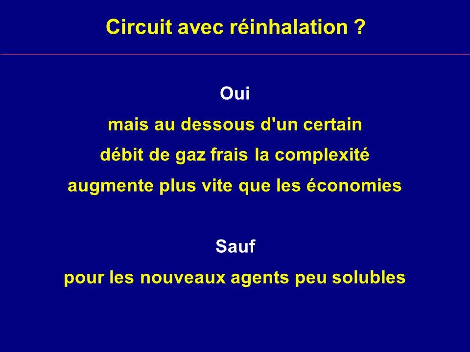 Circuit avec réinhalation