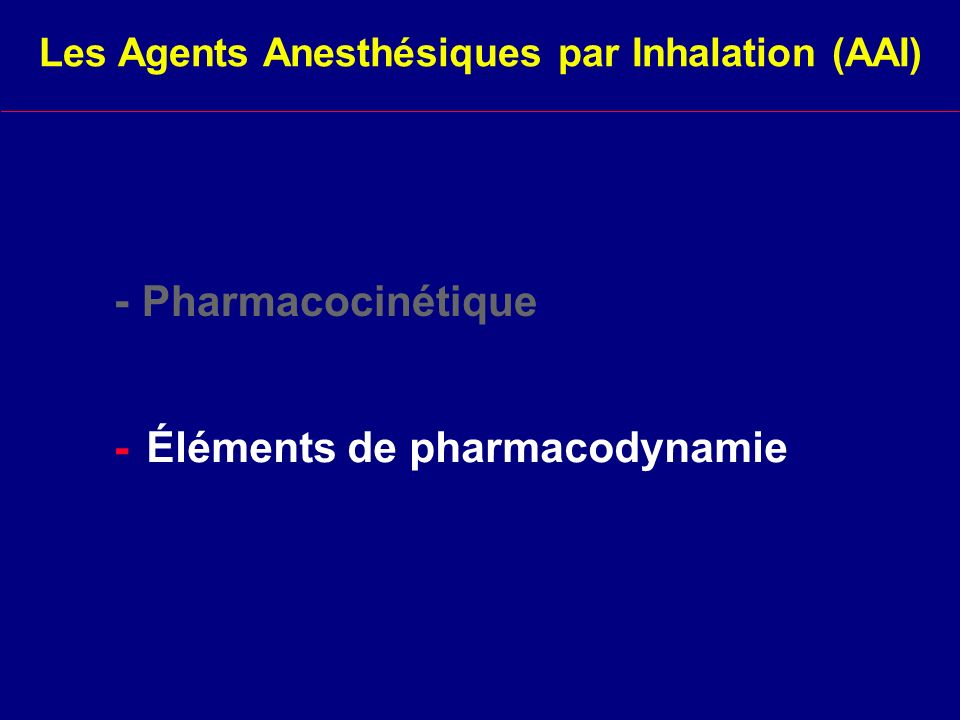 Éléments de pharmacodynamie
