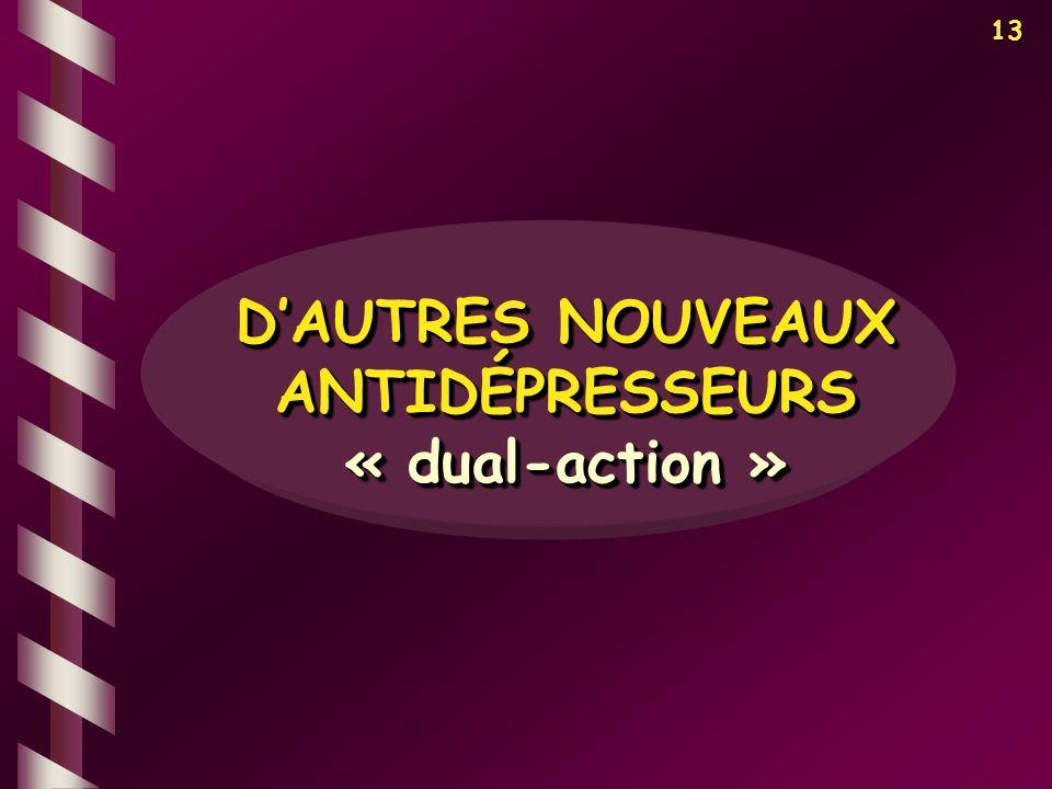 D'AUTRES NOUVEAUX ANTIDÉPRESSEURS