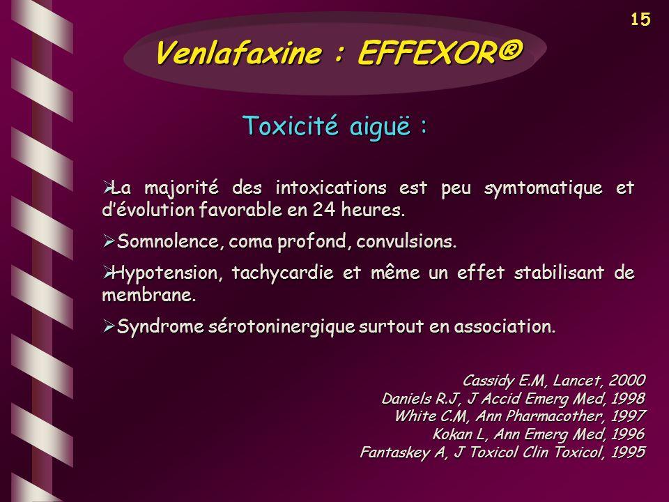 Venlafaxine : EFFEXOR®