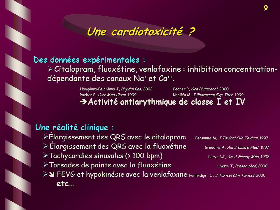 Activité antiarythmique de classe I et IV