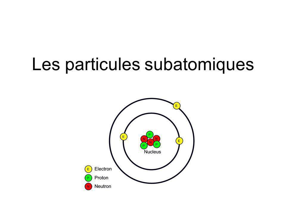 Les particules subatomiques