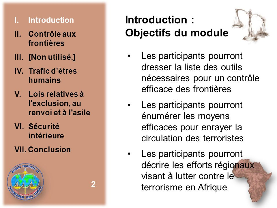 Introduction : Objectifs du module