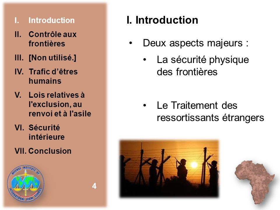 I. Introduction Deux aspects majeurs :