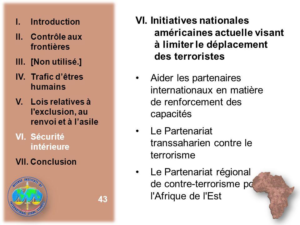 Le Partenariat transsaharien contre le terrorisme