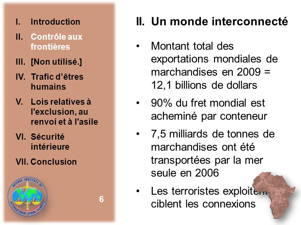 II. Un monde interconnecté