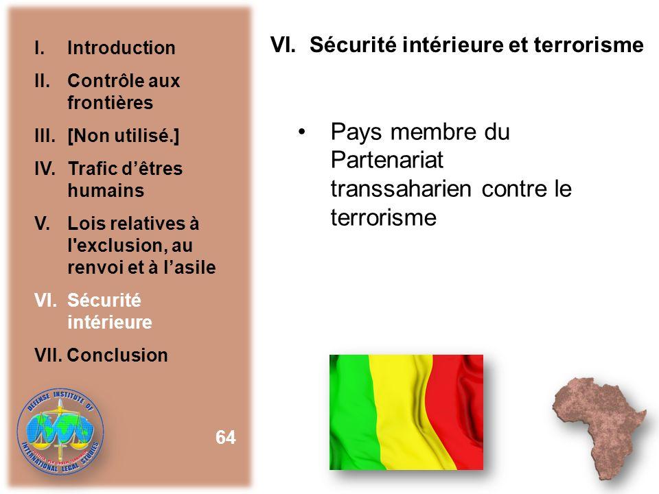 Pays membre du Partenariat transsaharien contre le terrorisme