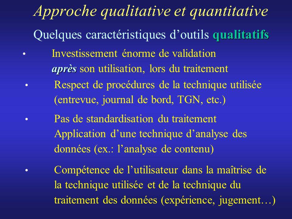 Approche qualitative et quantitative