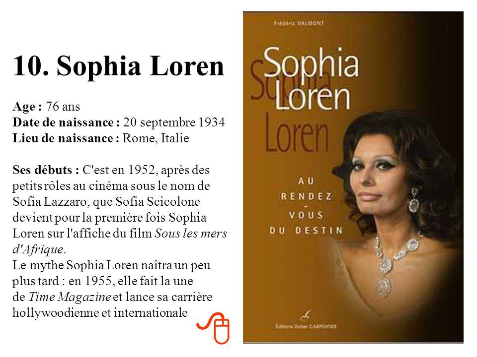 10. Sophia Loren