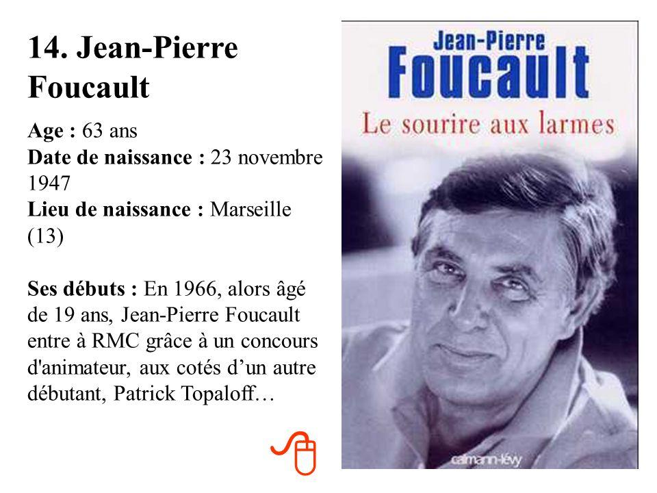 14. Jean-Pierre Foucault
