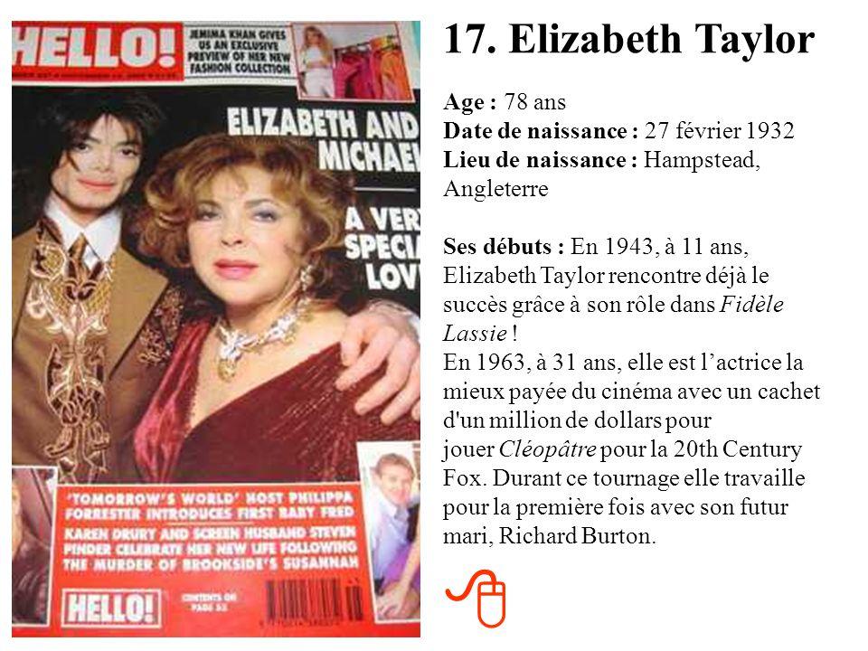 17. Elizabeth Taylor
