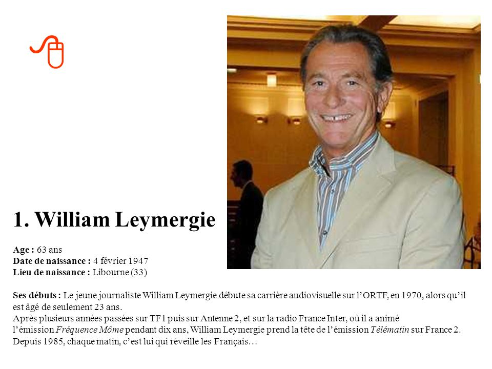 8 1. William Leymergie.