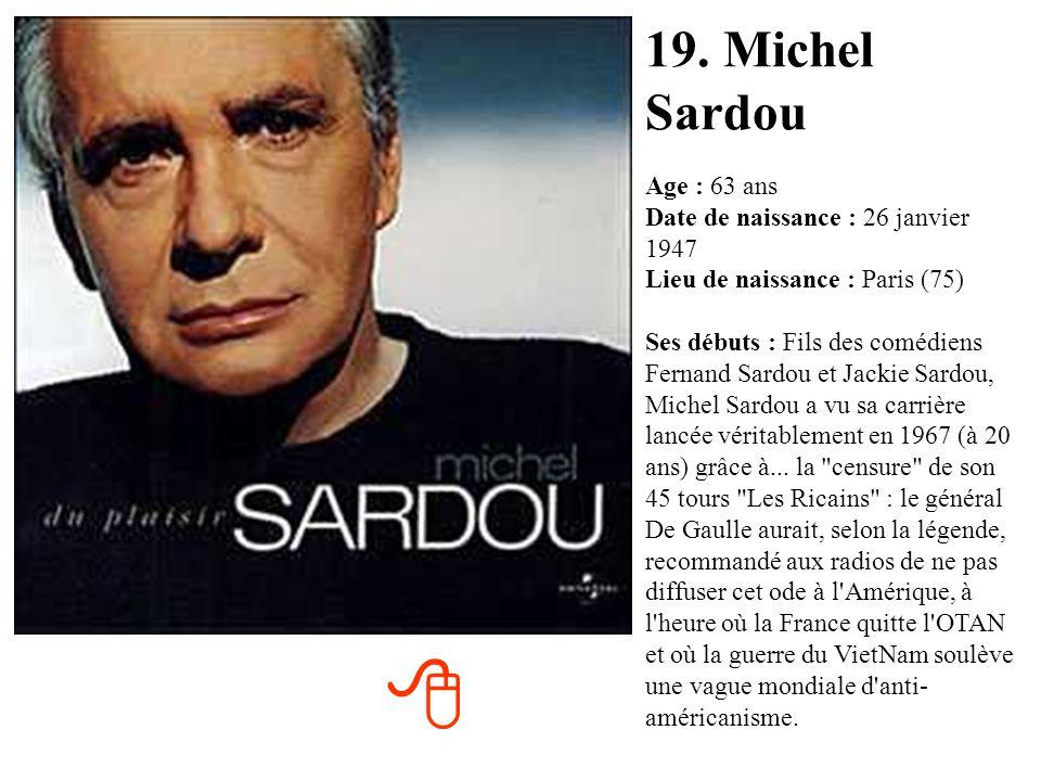 19. Michel Sardou