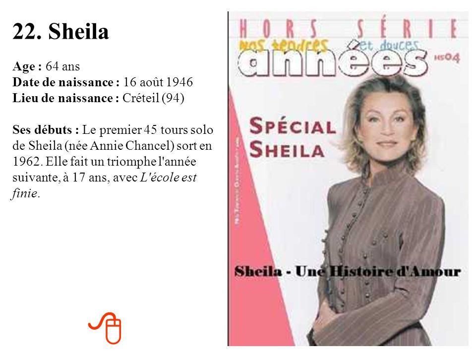 22. Sheila