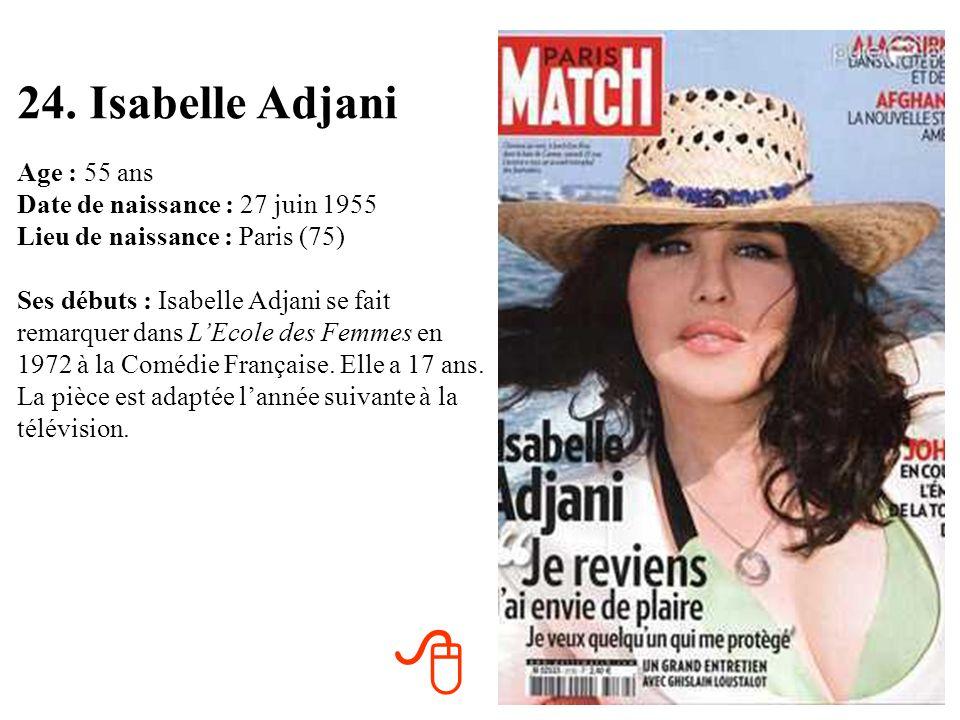 24. Isabelle Adjani
