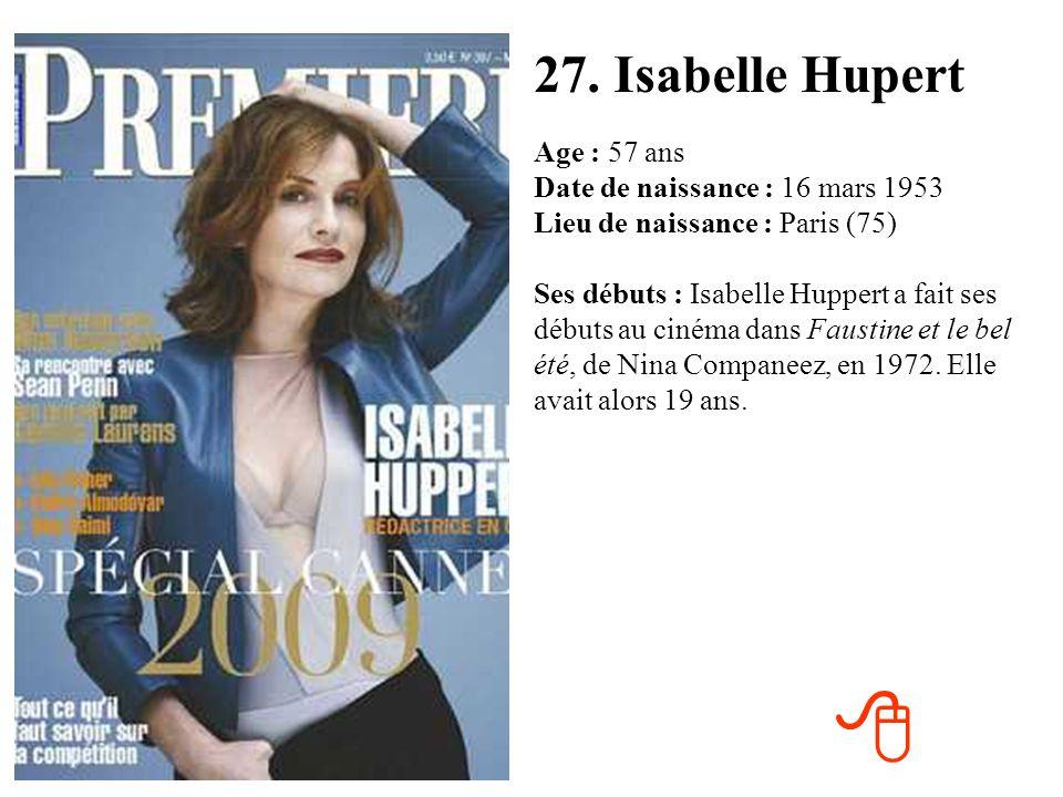 27. Isabelle Hupert