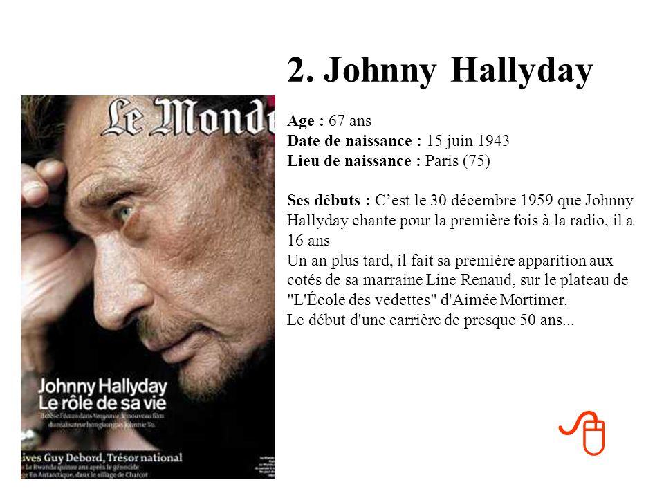 2. Johnny Hallyday
