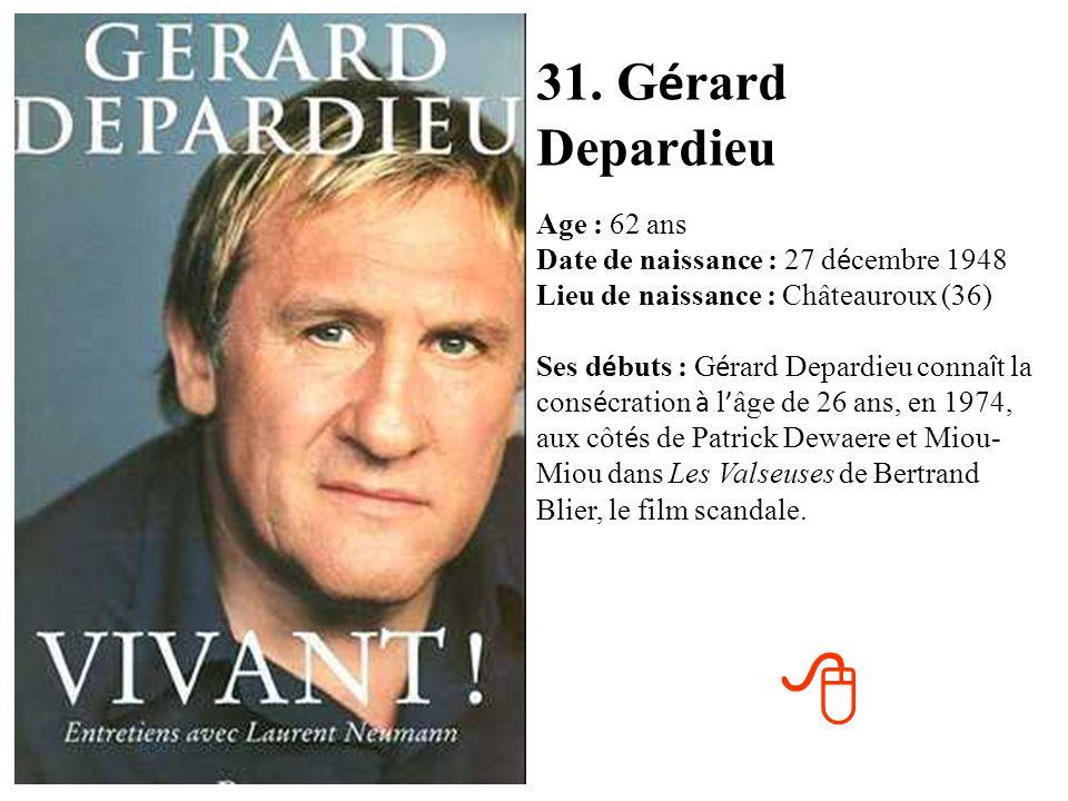 31. Gérard Depardieu