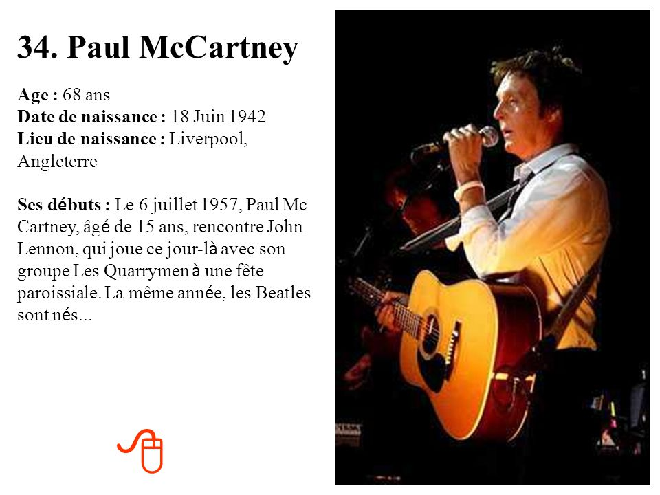 34. Paul McCartney