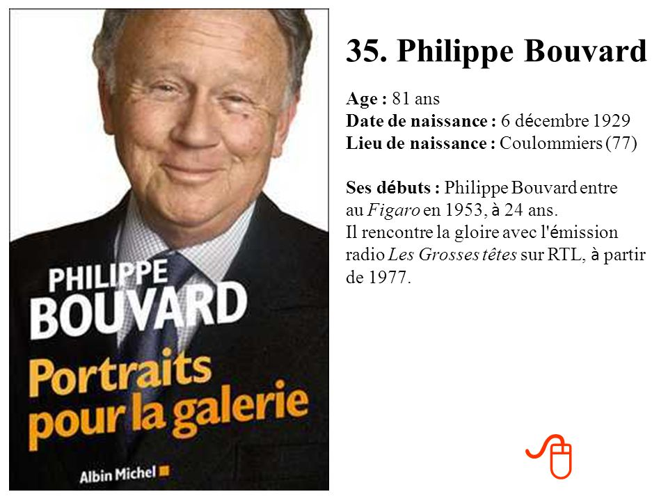 35. Philippe Bouvard