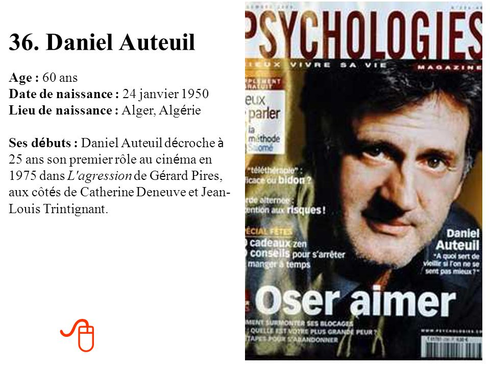 36. Daniel Auteuil