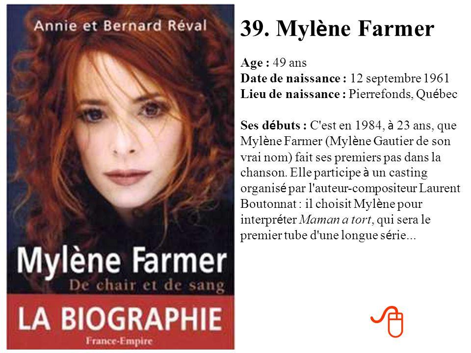 39. Mylène Farmer