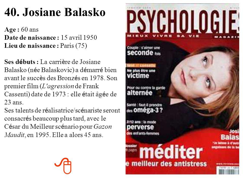 40. Josiane Balasko