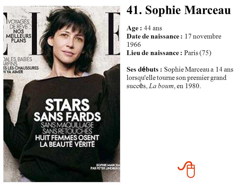 41. Sophie Marceau