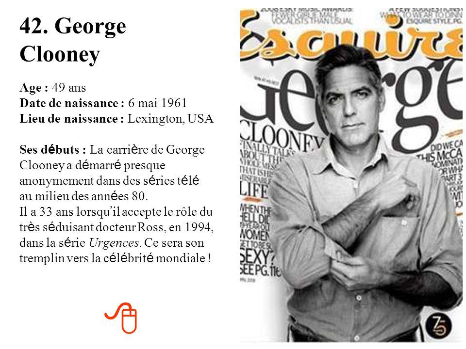 42. George Clooney