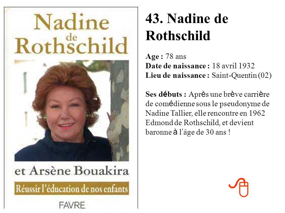 43. Nadine de Rothschild