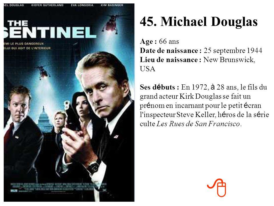 45. Michael Douglas