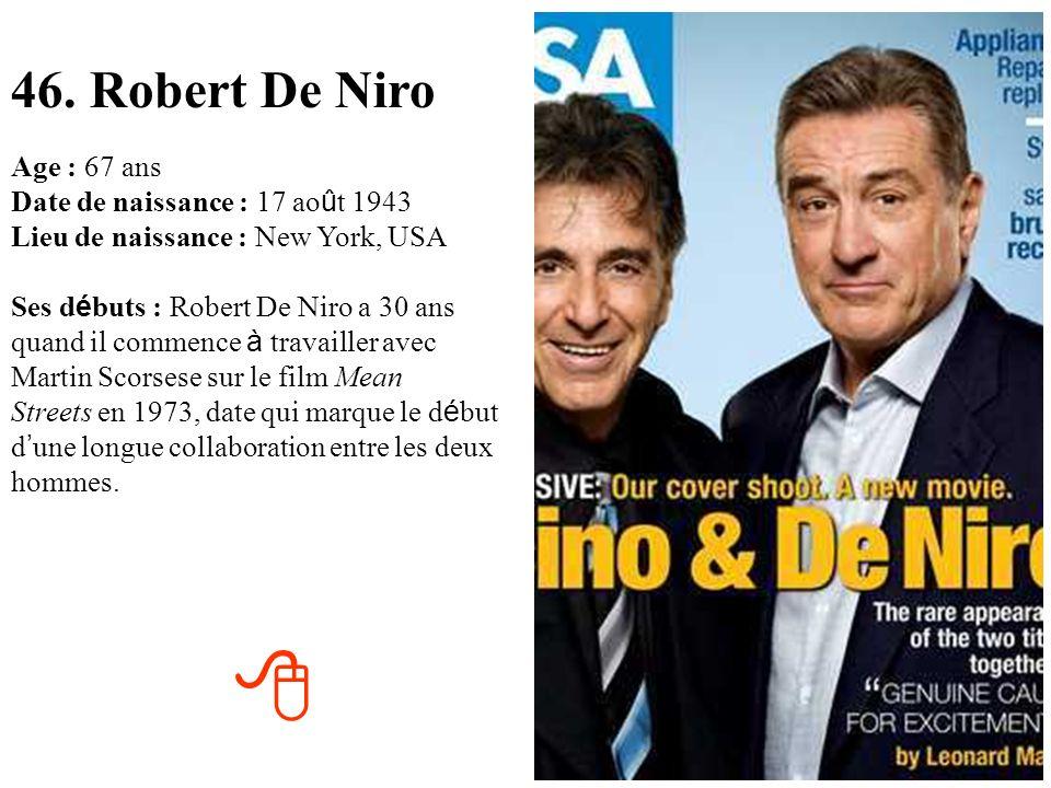 46. Robert De Niro
