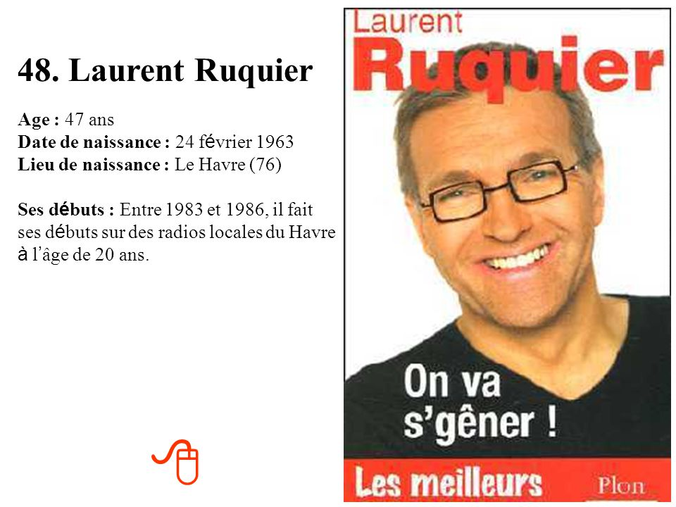 48. Laurent Ruquier