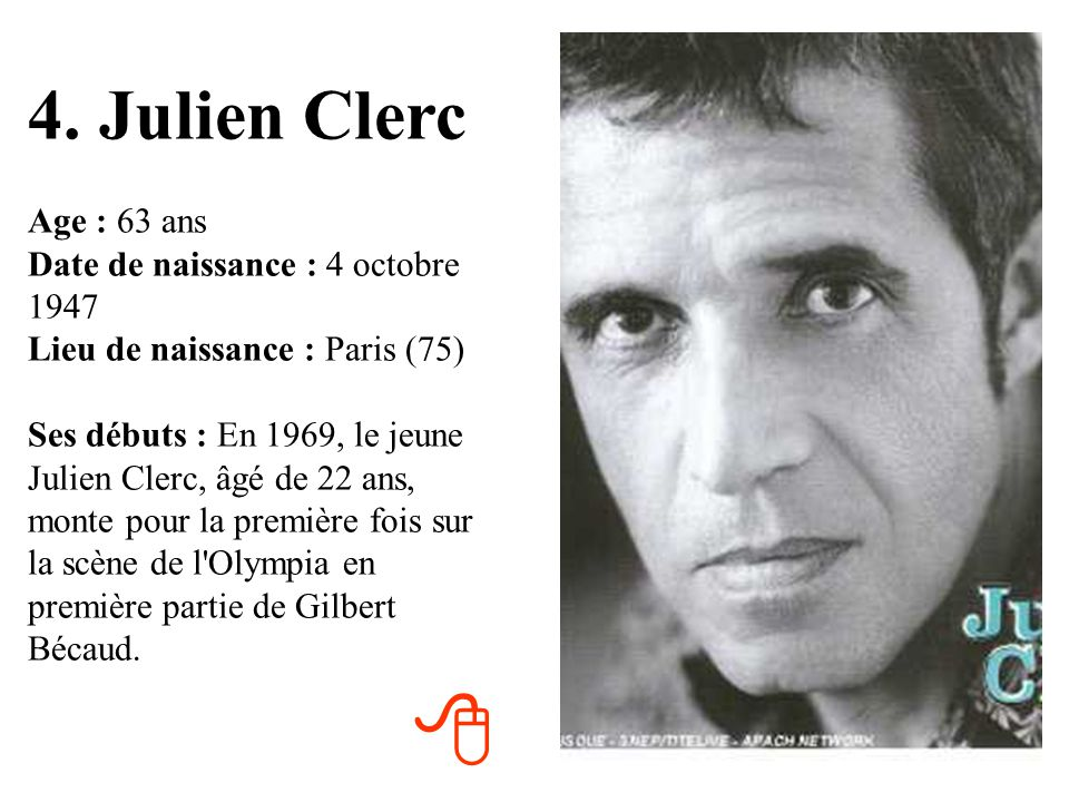 4. Julien Clerc