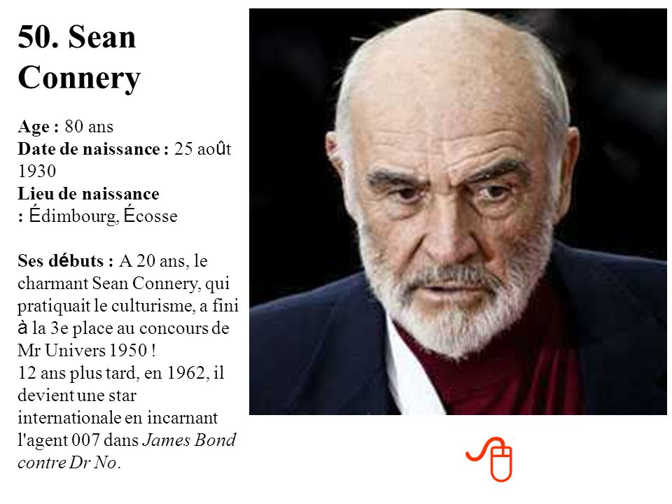 50. Sean Connery