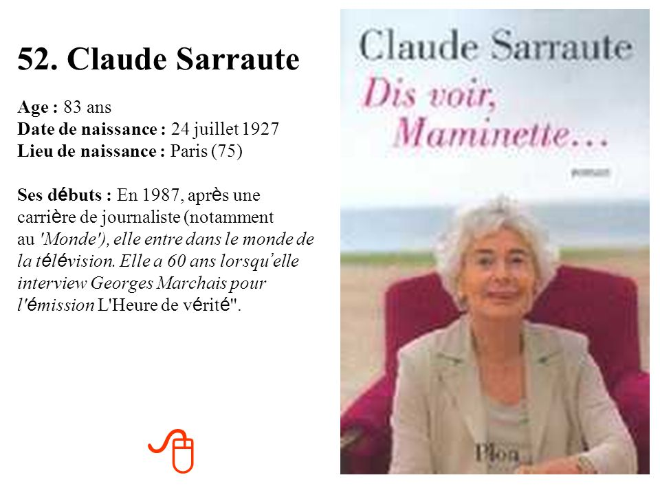 52. Claude Sarraute