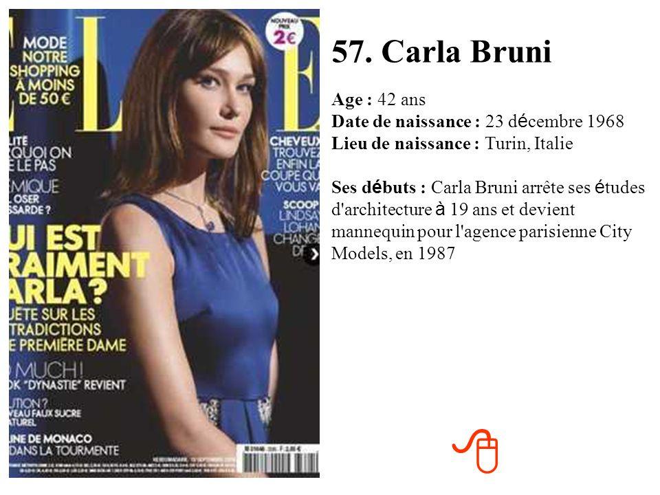 57. Carla Bruni