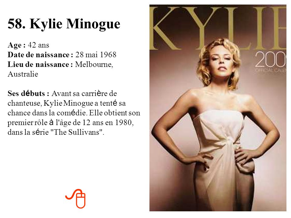 58. Kylie Minogue