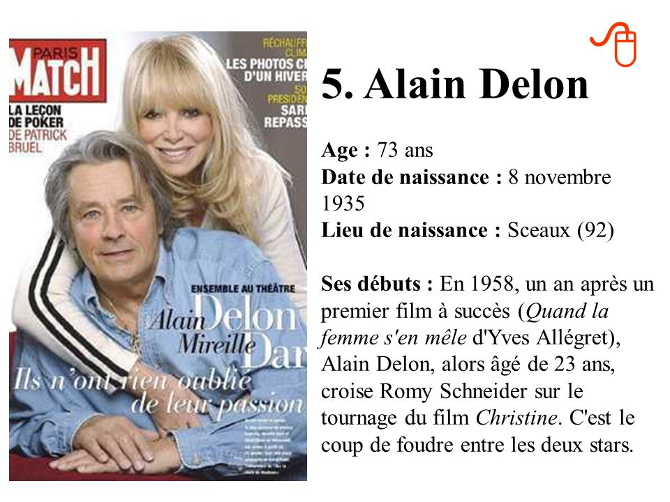 8 5. Alain Delon.