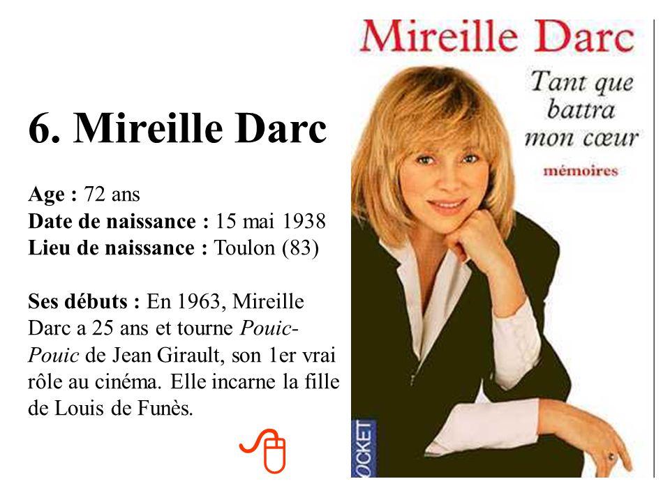 6. Mireille Darc