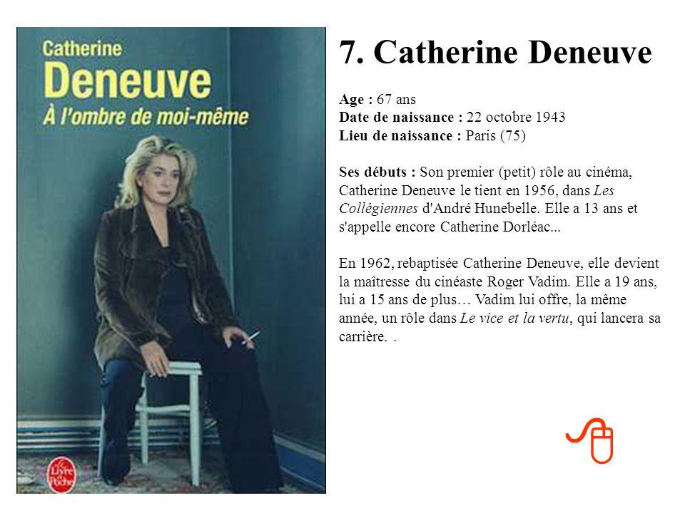 7. Catherine Deneuve
