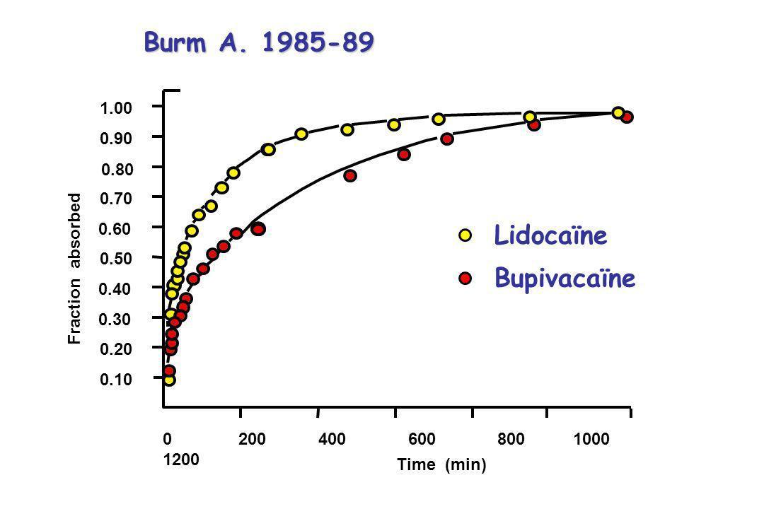 Burm A. 1985-89 Lidocaïne Bupivacaïne 1.00 0.90 0.80 0.70 0.60