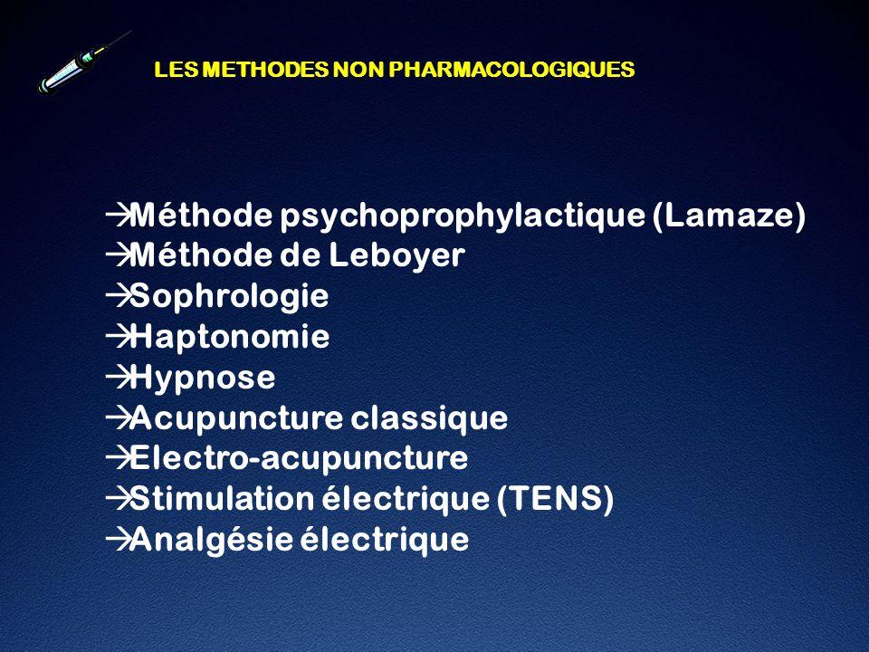 Méthode psychoprophylactique (Lamaze) Méthode de Leboyer Sophrologie