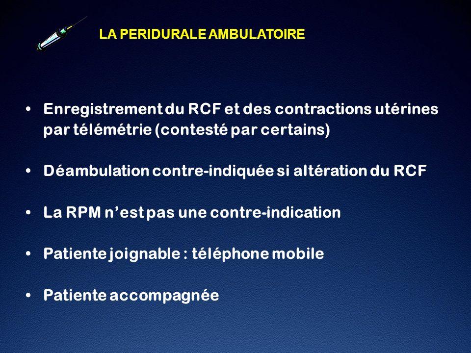 Enregistrement du RCF et des contractions utérines
